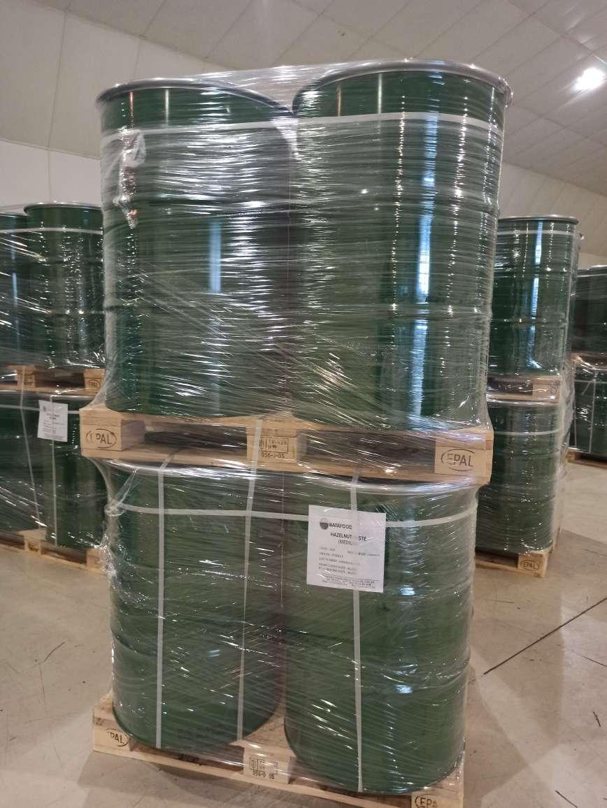 BATA FOOD Hazelnut Paste in steel drums bulk